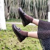 春季學院風英倫ins基礎款JK小皮鞋女日系復古韓版百搭懶人樂福鞋 米娜小鋪