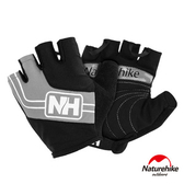 Naturehike 脫環加厚耐磨戶外運動騎行半指手套 灰色XL