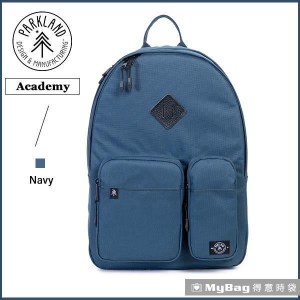 Parkland 後背包  暗藍色  電腦後背包  多功能休閒後背包 Academy-042 MyBag得意時袋
