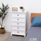床頭櫃北歐儲物櫃臥室歐式床邊櫃四層美式創意實木收納櫃簡約現代 3C優購