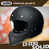 [中壢安信]日本 SHOEI EX-ZERO 素色 消光黑 全罩 安全帽 復古越野 山車帽 哈雷