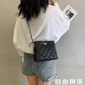 法國小眾高級感包包2020新款小ck女包限定洋氣時尚斜挎菱格錬條包  自由角落