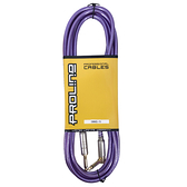 JYC Music 嚴選PRO LINE編織亮彩紋低雜訊導線(紫色)-4.5米/低雜訊/高傳導L接頭