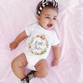 女寶寶包屁衣 嬰兒短袖包屁衣 歐美寶寶童裝 SK2173