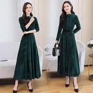 實拍2020年新款秋季女神范收腰顯瘦高端名媛氣質女人味連衣裙