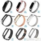 小米手環帶 適用小米手環2腕帶替換帶二代運動金屬不銹鋼替換帶手環帶 城市科技