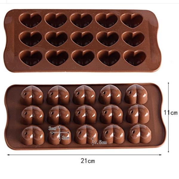 【DG266】15連水滴愛心造型巧克力模 模具 模型 情人節巧克力造型★EZGO商城★