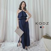 東京著衣【KODZ】時尚歐膩繞頸綁帶兩件式套裝-S.M.L(180168)