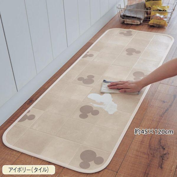 迪士尼限定米奇腳踏墊地毯地墊廚房防水吸水蒂電日本製090282通販屋