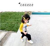 女寶寶長袖上衣寶寶體恤兒童裝秋季卡通2018新款1-3歲女童洋氣t恤   夢曼森居家
