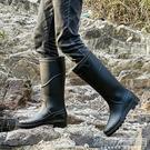 中高筒雨鞋男防滑時尚男士外穿水鞋防水釣魚膠鞋套鞋勞保工作雨靴CY『新佰數位屋』