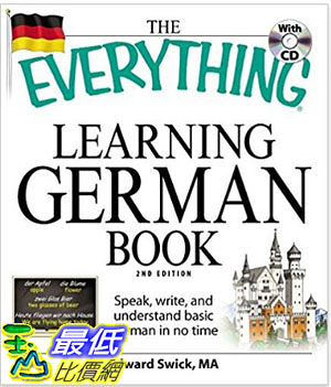 [106美國直購] 2017美國暢銷軟體 The Everything Learning German Book: Speak, write
