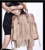 手提包-100%純牛皮駝色流蘇西部風情/E04621/設計家