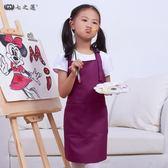 兒童畫畫圍裙定制 韓版可愛小孩子罩衣美術繪畫幼兒園寶寶畫畫衣 桃園百貨