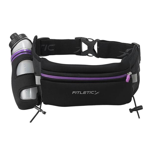 Fitletic Fully Loaded Neoprene單水壺腰包 HD12G / 城市綠洲 (腰包、路跑、休閒、輕量、夜光、運動)