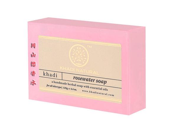 岡山戀香水~印度 Khadi 草本玫瑰水手工精油香皂125g~優惠價:65元