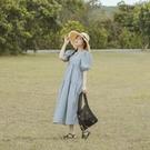 Queen Shop【01085487】清新格紋澎袖蛋糕造型洋裝 兩色售*現+預*