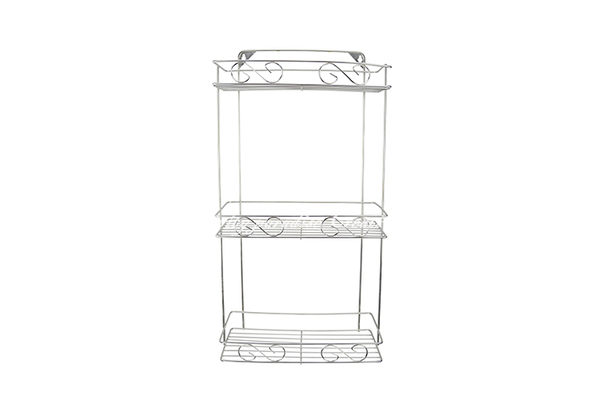 【三層方形架】衛浴室長方形收納架 廚房3層置物籃 不銹鋼收納籃 陽台置物架 不鏽鋼餐具架