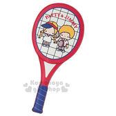 〔小禮堂〕Patty&Jimmy 球拍造型皮革票卡夾《藍紅》證件夾.車票夾.復古網球系列 4901610-38306