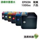 【六色一組/奈米寫真/填充墨水】EPSON 1000CC 適用所有EPSON連續供墨系統印表機機型
