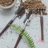園藝工具組 碳鋼迷你多肉園藝鏟子小型三件套種花養花家庭花園園藝工具家用