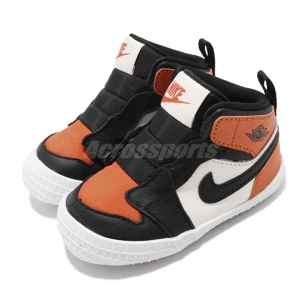 Nike Jordan 1 Crib Bootie 黑 橘 童鞋 小童鞋 學步鞋 【PUMP306】 AT3745-108