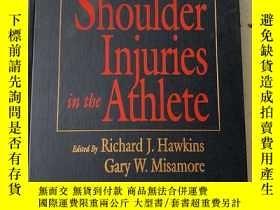 二手書博民逛書店Shoulder罕見Injuries in the Athlet