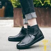 時尚男士雨鞋短筒防滑防水鞋工作膠鞋水靴雨靴【雲木雜貨】