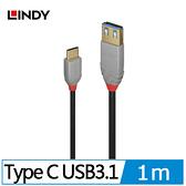 ANTHRA LINE USB 3.1 GEN2 TYPE-C公 TO TYPE-A公 傳輸線1M