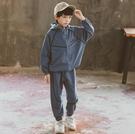 衣童趣(•‿•)韓版男童 潮流套裝 帥氣抽繩 連帽外套 休閒縮口長褲 百搭套裝