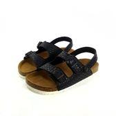 台灣WONDER GO 星星雙帶雙扣環 休閒涼鞋《7+1童鞋》C159黑色