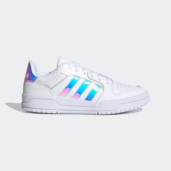 Adidas Neo Entrap [FY6017] 女鞋 運動 休閒 炫彩 彩色光澤 愛迪達 基本款 穿搭 白 銀