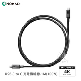 【A Shop】NOMAD USB-C to C 充電傳輸線-(100W) 1M