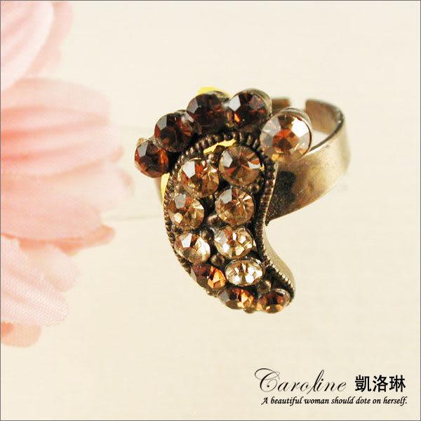 《Caroline》★韓國進口甜心可愛設計施華洛世奇水晶造型戒指【可調整型】39655