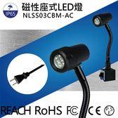 LED聚光燈 NLSS03CBM-AC  光通量:430lm  照度:1750lx  6W IP65  2m帶插頭線 LED工作燈/照明燈/機械自動化設備