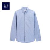 Gap男裝 純棉長袖基本款襯衫 500018-淺藍