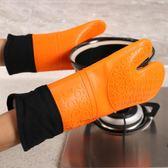 2只裝廚房家用耐高溫微波爐加厚手套硅膠隔熱烘焙烤箱用防燙手套 卡布奇诺