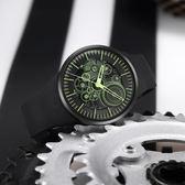 odm Lapped 系列齒輪設計手錶-萊姆綠x黑/43mm DD157-04