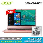 【Acer 宏碁】Swift 3 SF314-57G-54DY 14吋輕薄筆電 粉色 【贈威秀電影序號-1月中簡訊發送】