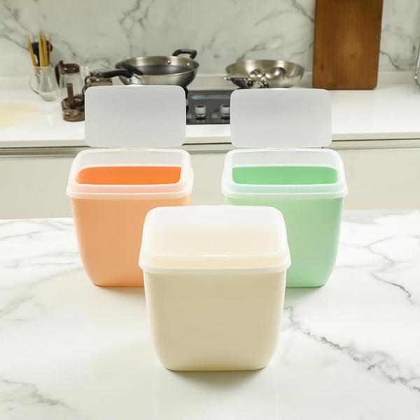 辦公室衛生間桌面帶蓋迷你廚房臥室無痕貼分類紙簍掛壁式小垃圾桶 「韓美e站」