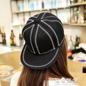 帽子男士潮嘻哈帽街舞鴨舌帽女遮陽棒球帽時尚情侶平沿帽韓國夏天 流行花園