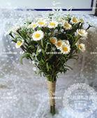 森系清新白色小雛菊 外景婚紗拍照攝影道具 滿天星手捧花韓式旅拍  居家物語