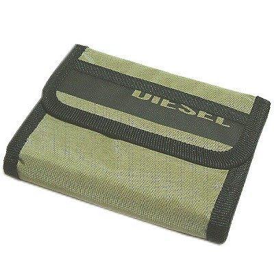 DIESEL 原廠3折直式皮夾(軍綠色) DBL0731SKH