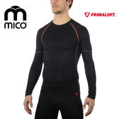 MICO 男Primaloft無縫圓領保暖衣1470 / 城市綠洲(透氣、吸濕快乾、彈性貼身)