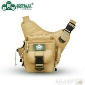 攝影背包 頓巴縱隊 防水出游戶外鞍袋包戰術斜背包側背攝影單反相機包腰包聖誕節