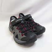 LOTTO 冒險家排水護趾涼鞋 拖涼鞋 LT1AMS3230 男款 黑灰紅 整數碼【iSport愛運動】