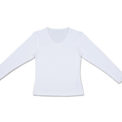 台塑生醫Dr's Formula 遠紅外線科技發熱衣(女款U領-白色)