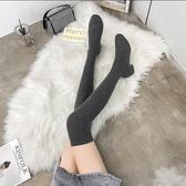 長筒靴 長筒彈力襪子靴女2020年秋季新款粗跟過膝瘦瘦靴針織絲襪長靴