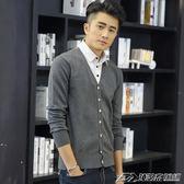 男士毛衣假兩件針織衫開衫長袖襯衫領帶領襯衣領假領線衣   潮流前線