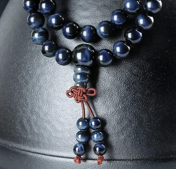 [協貿國際]天然藍虎石108顆佛珠手鍊單條價